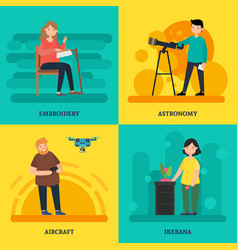 Colorful university courses square concept vector