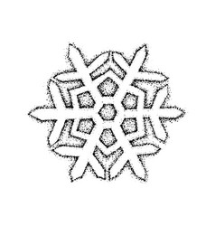 dotwork snowflake vector image vector image