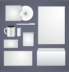 Empty corporate identity template vector image