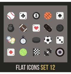Flat icons set 12 vector image