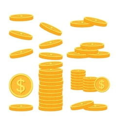 Flat money icons vector image vector image