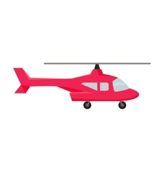 Fly helicopter icon vector