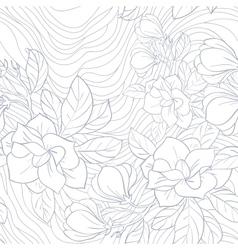 Jasmine floral seamless pattern vector image