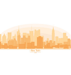 Linear banner of new york city buildings vector