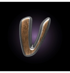 metal and wood figure vector image vector image