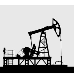 Oil pump silhouette over grey background vector image vector image