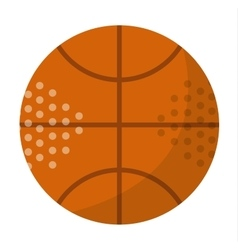 Orange basketball ball vector image vector image