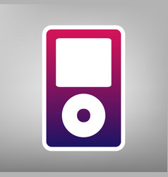 Portable music device purple gradient vector