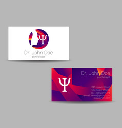 Psychology visit card modern logo vector