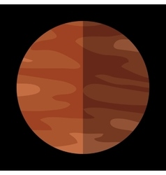 Saturn planet sign vector