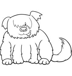 Sheepdog cartoon for coloring vector