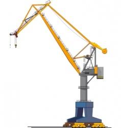 Shipyard crane vector
