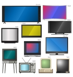 Tv screens vector