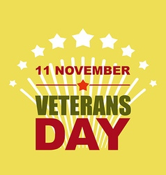 Veterans Day November 11 Salute to American heroes vector image