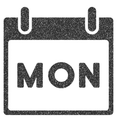Monday calendar page grainy texture icon vector