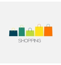Shopping bag design background vector