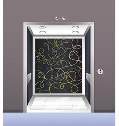 An empty elevator vector image