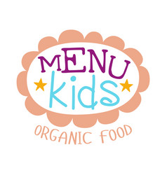 Kids food  cafe special menu for children vector