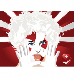 Crowd goes wild switzerland vector