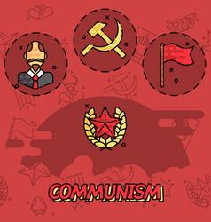 Communism flat concept icons vector
