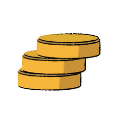 database server information storage disk symbol vector image