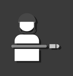 Flat icon design collection bullet wounded vector