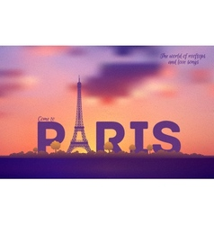 Typographical paris retro style poster vector