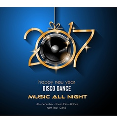 2017 Happy New Year Disco Party Background for vector image