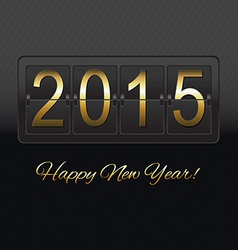 New Year Black Counter vector image