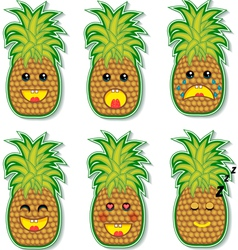 Pineapple face vector