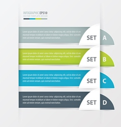 Semicircle modern infographics banner vector