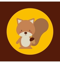 Cute animal fall vector