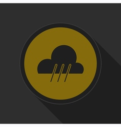 Dark gray and yellow icon - rainy vector