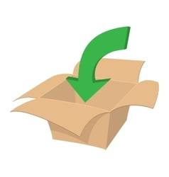 Blank cardboard box cartoon icon vector