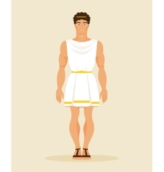Ancient greek man vector