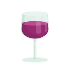 Glass of wine icon cartoon style vector