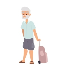 Summer old man people vector