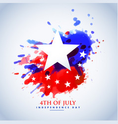abstract watercolor american flag for 4th of july vector image