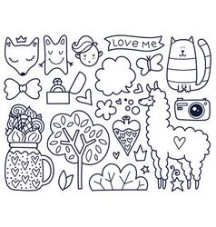 Black doodles vector