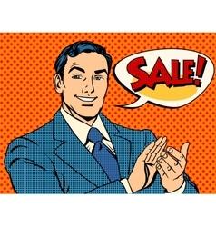 Businessman sale applause vector