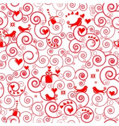 Christmas swirl pattern vector image vector image