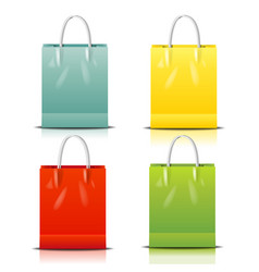 color shopping bag vector image vector image