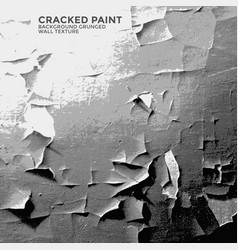Cracked paint grunge wall texture vector
