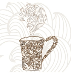decorative coffee cup vector image