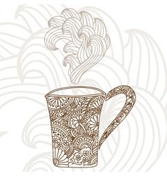 Decorative coffee cup vector