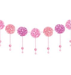 Elegant dangling pink birthday party paper vector