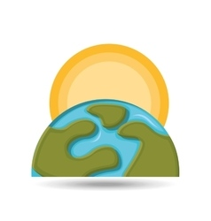 environment globe warming icon graphic vector image