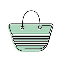 fashion purse to be in the beach vector image