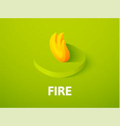 fire isometric icon isolated on color background vector image