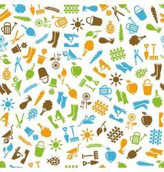 garden seamless pattern vector image